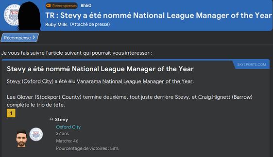 Coach de l'année