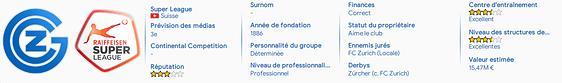 Infos club (valeur)