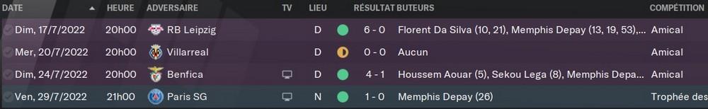Match Amicaux, 85%
