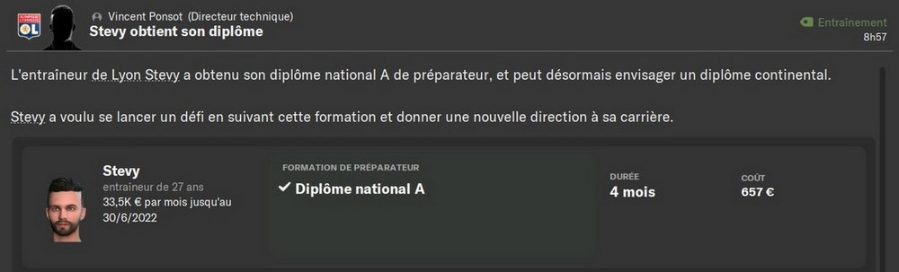 Diplome National A, 80%