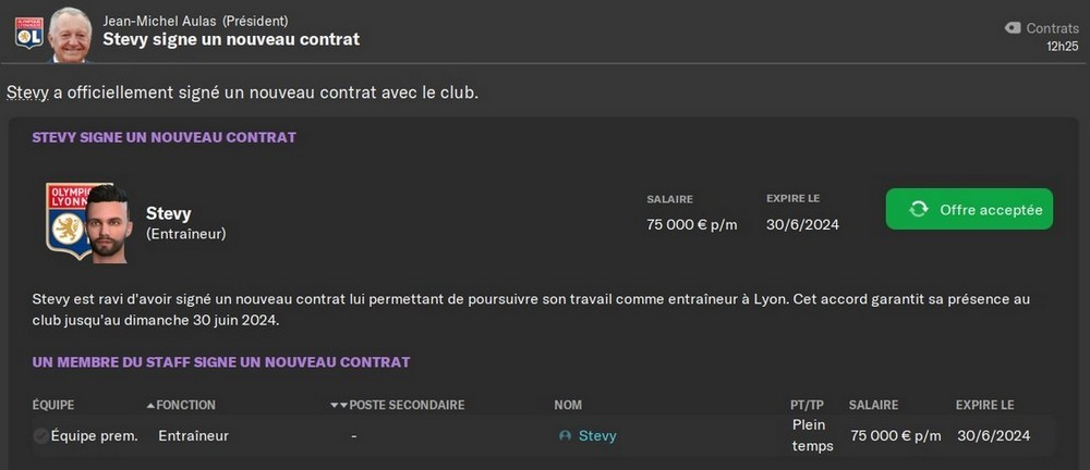 Prolongation de contrat, 80%