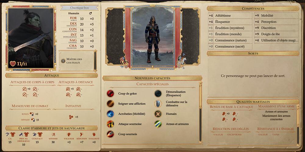 Pathfinder Kingmaker Knife Master