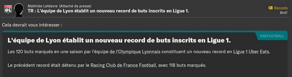 Record but en L1, 80%